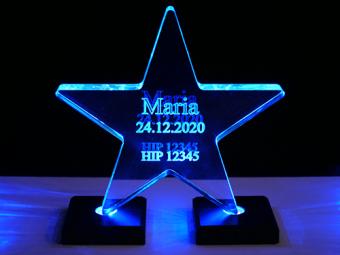 Estrela em Acrílico (iluminada)